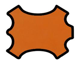 Peau d'agneau grainé caramel orangé