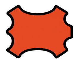 Demi peau de vachette orange