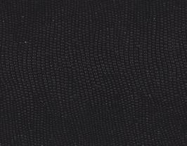 Coupon de cuir d'agneau noir imprimé galuchat
