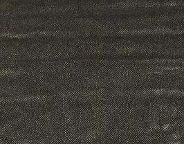 Morceau de cuir de vachette noir doré imprimé poisson