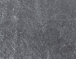 Morceau de cuir de vachette argenté gaufré