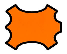 Peau de chèvre nappa mandarine