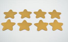 8 étoiles en cuir de chèvre doré