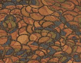 Coupon de cuir de vachette multicolore reflets dorés