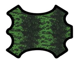 Peau de chèvre noir et vert imprimée python