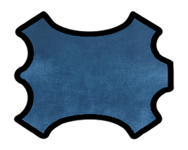 Peau de chèvre bleu métallisé