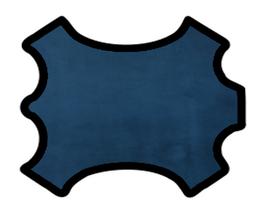 Peau de veau velours bleu marine