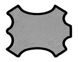 Peau de chèvre argenté imprimé python
