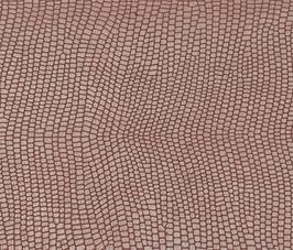 Coupon de cuir de vachette rose métallisé imprimé lézard