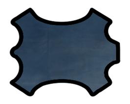 Peau d'agneau nappa bleu marine