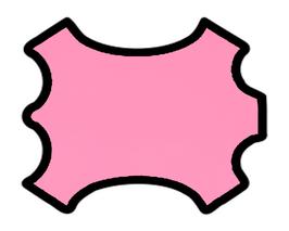 Peau d'agneau nappa rose bonbon
