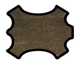 Peau d'agneau velours léopard doré