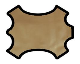 Peau d'agneau doré vernis