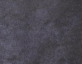 Coupon de cuir de vachette nubuck bleu foncé brillant