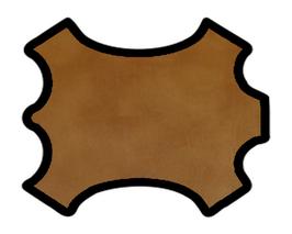 Demi peau de veau grainé caramel