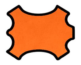 Peau de chèvre orange métallisé