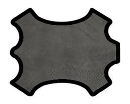 Peau d'agneau velours gris imprimé points noirs