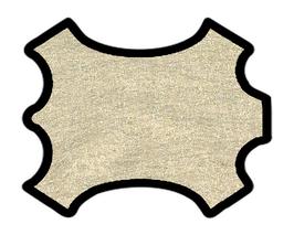 Peau d'agneau platine métallisé
