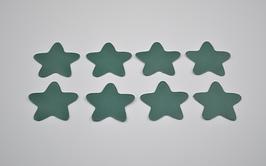 8 étoiles en cuir d'agneau vert d'eau