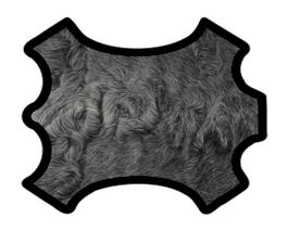 Peau d'agneau lainé astrakan gris