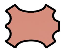 Peau d'agneau nappa rose saumoné