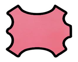 Peau d'agneau rose
