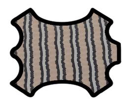 Demi peau de vachette beige imprimé