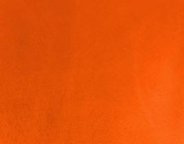 Coupon de cuir de chèvre orange métallisé