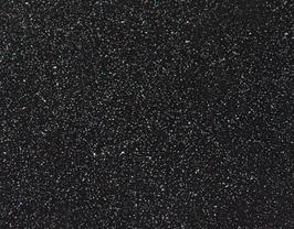 Morceau de cuir de vachette grainé noir pailleté