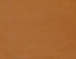 Morceau de cuir d'agneau velours terre de sienne