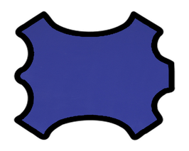 Peau d'agneau nappa bleu pivoine