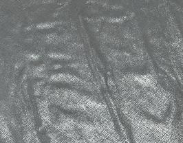 Morceau de cuir de vachette argenté imprimé tissé