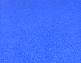 Coupon de cuir d'agneau velours bleu roi