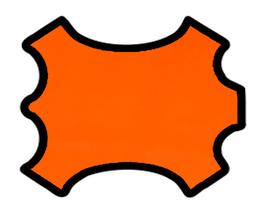 Peau d'agneau nappa orange fluo