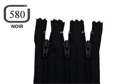Fermeture éclair YKK noire en nylon non séparable