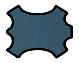 Peau de vachette imprimée bleu pétrole