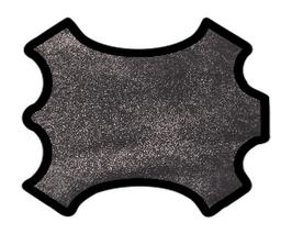 Peau d'agneau noir effet pailleté