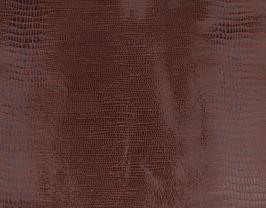 Coupon de cuir d'agneau marron imprimé lézard
