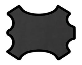 Peau de mouton nappa noir