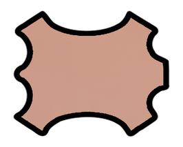 Peau d'agneau nappa argile rose