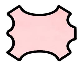 Peau d'agneau rose dragée