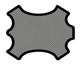 Demi peau de vachette perforée grise