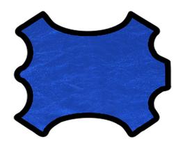 Peau d'agneau nappa bleu métallisé