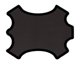 Demi peau de vachette marron foncé