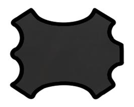 Demi peau de vachette noire opaque