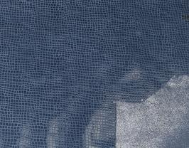 Morceau de cuir de vachette bleu jeans double face