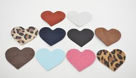 Lot n°1 de 10 cœurs en cuir