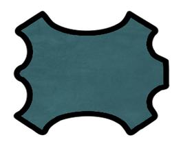 Peau d'agneau velours turquoise foncé