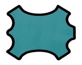 Demi peau de vachette vert d'eau
