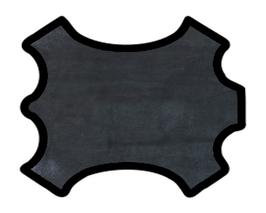 Peau de veau velours bleu métallisé